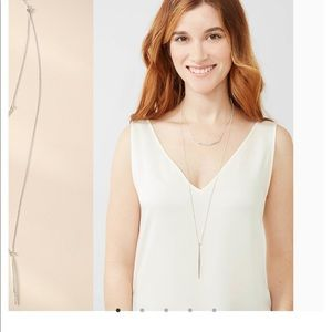 Stella & Dot Kari 3 in 1 silver necklace